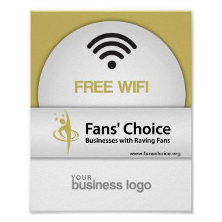 Free Wifi Fans Choice Poster