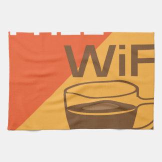 Free Wifi Sign Kitchen Towel