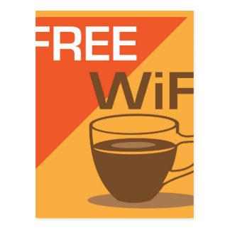 Free Wifi Sign Postcard