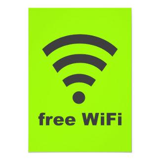 "FREE WIFI Vector COMPUTER INTERNET ADVERTISING 5"" X 7"" Invitation Card"