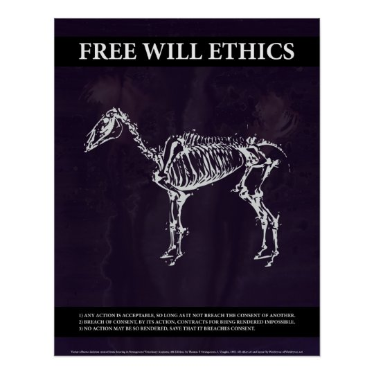 Free Will Ethics Poster