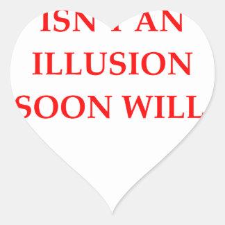 free will heart sticker