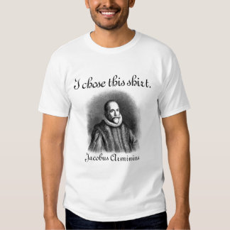 Free Will - Jacobus Arminius (Black type on light) T-shirt