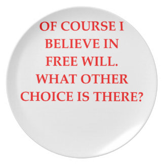 free will melamine plate