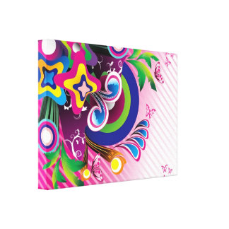 Free Wonderful Colorful Background Vector Graphics Canvas Print