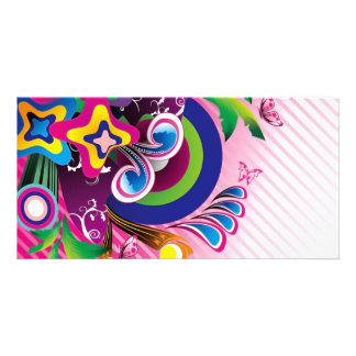 Free Wonderful Colorful Background Vector Graphics Card