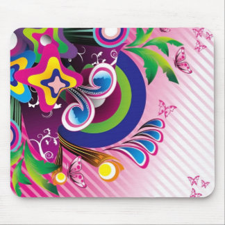 Free Wonderful Colorful Background Vector Graphics Mouse Pad
