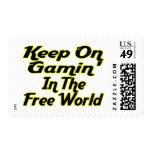 Free World Gaming Postage Stamps