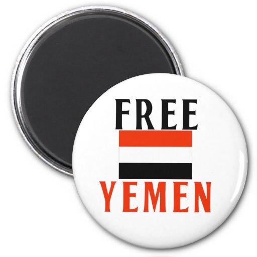 Free Yemen 2 Inch Round Magnet