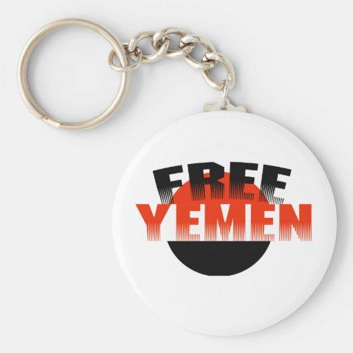 Free Yemen Basic Round Button Keychain