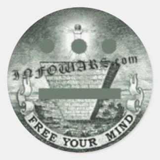 Free Your Mind Classic Round Sticker