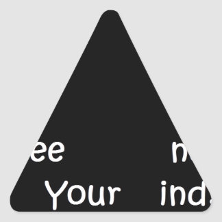 Free your mind do what you love triangle sticker