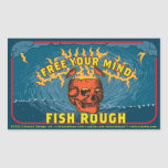 Free Your Mind! Fish Rough! (sheet of 4 stickers)
