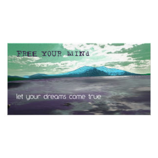 Free Your Mind Inspirational Picture Photo Art Custom Photo Card