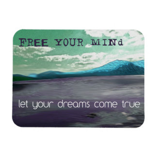 Free Your Mind Inspirational Quote Fridge Magnet
