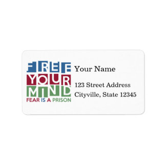 Free Your Mind Personalized Address Labels