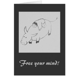 Free your mind original zen painting card