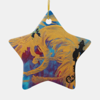 Free Your Mind Double-Sided Star Ceramic Christmas Ornament