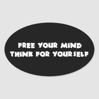 Free Your Mind Oval Sticker