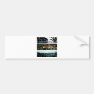 Free Your Mind Panoramic Scenery - Explore Worlds Bumper Sticker