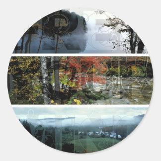 Free Your Mind Panoramic Scenery - Explore Worlds Classic Round Sticker