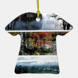 Free Your Mind Panoramic Scenery - Explore Worlds Double-Sided T-Shirt Ceramic Christmas Ornament