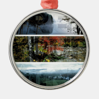 Free Your Mind Panoramic Scenery - Explore Worlds Round Metal Christmas Ornament