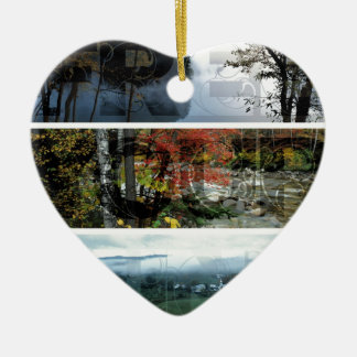 Free Your Mind Panoramic Scenery - Explore Worlds Double-Sided Heart Ceramic Christmas Ornament