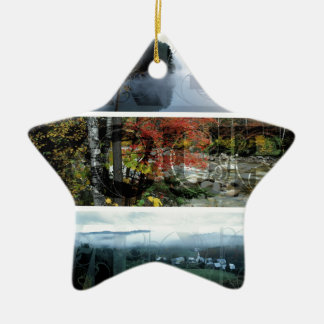 Free Your Mind Panoramic Scenery - Explore Worlds Double-Sided Star Ceramic Christmas Ornament