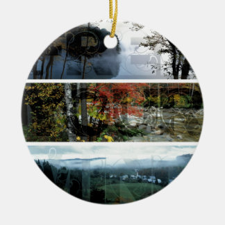 Free Your Mind Panoramic Scenery - Explore Worlds Double-Sided Ceramic Round Christmas Ornament