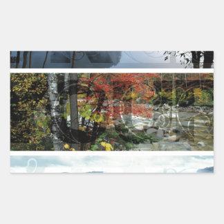 Free Your Mind Panoramic Scenery - Explore Worlds Rectangular Sticker