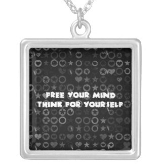 Free Your Mind Square Pendant Necklace