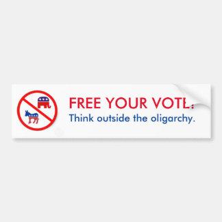 Free your vote. bumper sticker