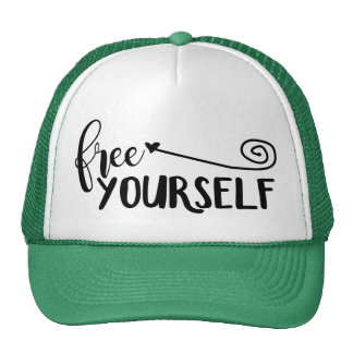 Free Yourself (no background) Trucker Hat