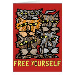 """Free Yourself"" Notecard"