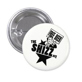freebeer shizz logo 1 inch round button