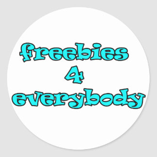 freebies classic round sticker