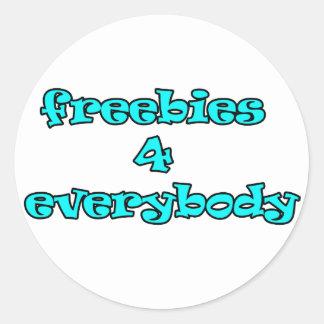 freebies round sticker