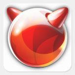 FreeBSD Pegatina Cuadrada