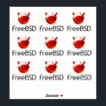 "FreeBSD Project Sticker<br><div class=""desc"">Show your support for FreeBSD by getting your own FreeBSD Project branded laptop stickers. 9 stickers per sheet.</div>"