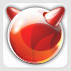 FreeBSD Square Sticker
