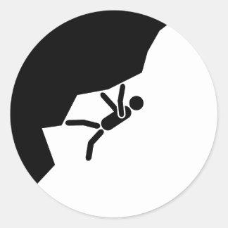 freeclimbing more climber mountain climbers climb  classic round sticker