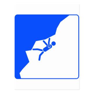 freeclimbing more climber mountain climbers climb postcard