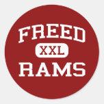 Freed - Rams - Middle School - Pueblo Colorado Round Stickers