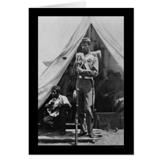 Freed Slave & Soldier in Camp Cameron, DC 1861 Greeting Card