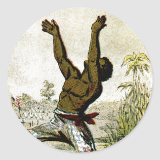 Freed Slave Classic Round Sticker
