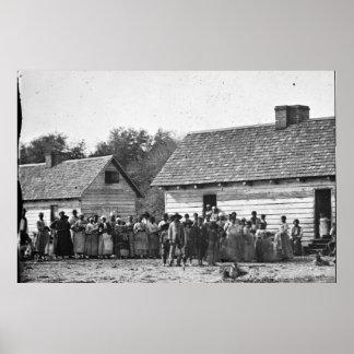Freed Slaves J J Smith Plantation South Carolina Poster