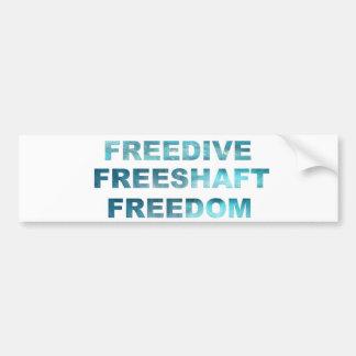 FREEDIVE FREESHAFT FREEDOM CAR BUMPER STICKER