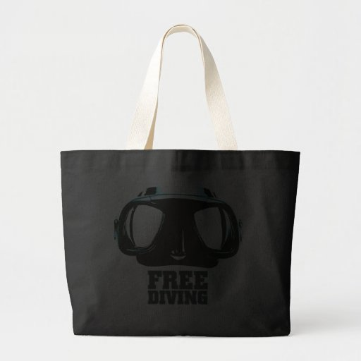 Freediving Black Jumbo Tote Bag