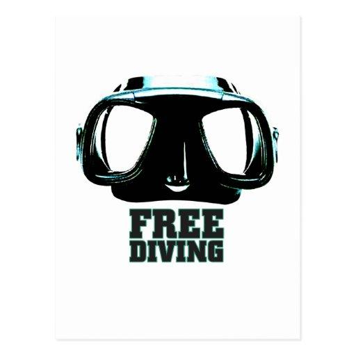 Freediving Postcard